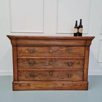 Beautiful Figured Elm French Commode c.1850 (6 of 9)