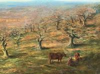 Large Superb Original 19thc West Sussex 'Tilgate Forest' Landscape Oil Painting (7 of 12)