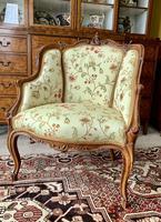 French Walnut Tub Chair (3 of 15)
