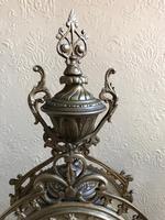 Antique French Gilded Bronze 8 Day Striking Garniture Set / Mantel Clock (3 of 9)