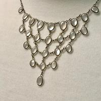 Antique Edwardian Silver Moonstone Festoon Bib Necklace c.1901 (8 of 9)