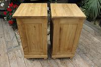 Fabulous! Pair of Old Stripped Pine Bedside Cabinets / Cupboards - We Deliver! (8 of 9)