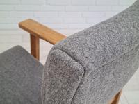 Danish Design by H.J.Wegner, GE 163a, Armchair, Oak, 70s, Furniture Wool, Renovated (7 of 9)