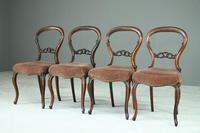 Set of 4 Rosewood Balloon Back Dining Chairs (3 of 12)