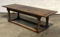 Very Early Oak Farmhouse Refectory Dining Table
