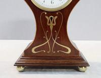 French Art Nouveau Mahogany Mantel Clock by Samuel Marti (3 of 7)