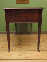 Antique Writing Table with Drawers and Aged Leather Top (15 of 19)