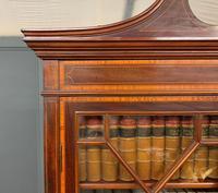 Edwardian Inlaid Mahogany Secretaire Bookcase (20 of 21)