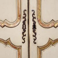 Early French Original Painted Armoire c.1750 (7 of 9)