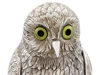 German Sterling Silver Table Owl - Antique c.1910 (7 of 12)