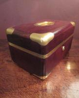 Antique Paris Made Leather & Gilt Bound Jewellery Case (9 of 9)
