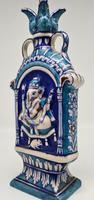 Vintage Bombay Porcelain Vase Featuring Hindu God Ganesh Standing on a Mouse (2 of 8)