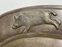 Large Danish Sporting Victorian 19th Century Danish Silver Plate Salver (15 of 31)