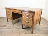 Early 20th Century Oak Desk with Six Drawers (7 of 10)