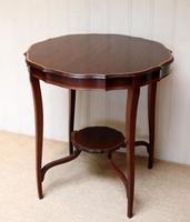 Inlaid Mahogany Circular Table (4 of 12)