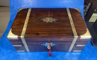 Victorian Full Brassbound Rosewood Writing Slope (9 of 19)