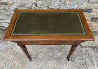 Antique Victorian Walnut Writing Table Desk (3 of 17)