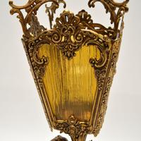 Antique French Gilt Metal & Glass Cherub Table Lamp (5 of 12)