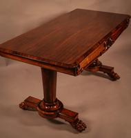 Fine William IV Library Table in Rosewood (9 of 10)