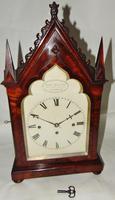Regency Mahogany Gothic Bracket Clock