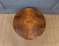 Round Burr Walnut Queen Anne Style Coffee Table (3 of 6)
