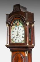 19th Century Mahogany Painted Dial Longcase Clock (5 of 6)