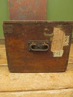Antique Pine Tuck Box with Old Luggage Labels (10 of 19)
