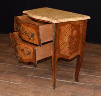 Antique French Commode Nightstand - Bombe Chest (7 of 8)