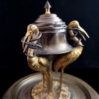 Antique French Inkwell, Storks & Snakes (10 of 12)