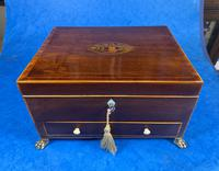 Georgian Mahogany Jewellery Box with Front Drawer (3 of 17)