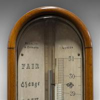 Antique Stick Barometer, Walnut, Scientific Instrument, Negretti & Zambra, 1900 (4 of 11)