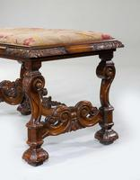 19th Century Carved Walnut Stool (2 of 4)