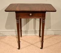 Attractive Regency Period Mahogany Drop Leaf Side Table (2 of 6)