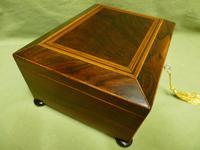 Regency Rosewood Jewellery / Sewing Box - Original Tray + Accessories c.1820 (4 of 15)