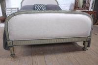 Attractive French Newly Upholstered King Size Bed (2 of 6)