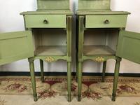 Antique French Painted Bedside Tables Pot Cupboards Original Paint (6 of 13)