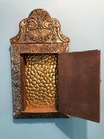 Antique Repousse Detail Cushion Mirror (3 of 10)