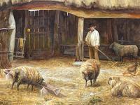"Watercolour ""Tending The Sheep"" By Bertha Rhodes RA Rca Exh 1905 -1912 (3 of 41)"
