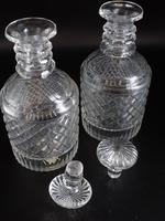 Good Pair of Georgian Mallet Shaped Decanters (3 of 5)
