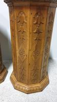Rare Pair  of Pine Column Stands (4 of 5)