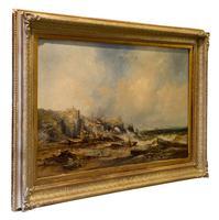 Large Oil on Canvas Painting - Arch Rock, Devon Coast