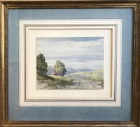 Original watercolour 'Cottage in a landscape (Lake District?)  by John Callow 1822-1878. Initialled verso (4 of 4)