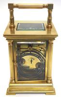 Antique Striking French 8-day Carriage Clock Unusual Masked Dial Case with Enamel Dial (10 of 11)