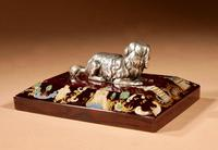 """Amusing and Decorative German """"silver"""" and Rubin Glass Press Papier (4 of 8)"""