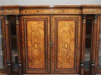 19th Century burr walnut breakfront credenza (10 of 10)