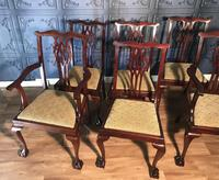 Set of six Edwardian Mahogany Dining Chairs (9 of 11)