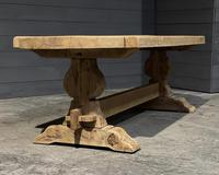 Large Rustic French Bleached Oak Farmhouse Dining Table (4 of 40)