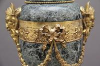 Pair of 19th Century French Marble & Cassoulet Urns (9 of 13)