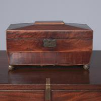 Georgian Mahogany Sarcophagus Shape Tea Caddy (6 of 9)