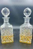 Pair of French Ormolu Cut Crystal Decanters Whisky & Cognac (5 of 8)